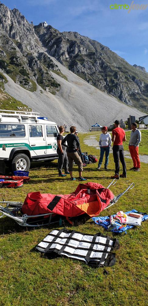 Erste Hilfe im Klettersteig, Klettersteigfestival Nordkette Innsbruck 2019 | xhow