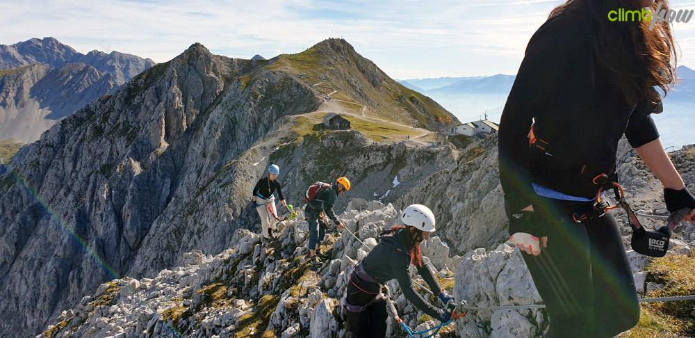 Richtig umhängen, Klettersteigfestival Nordkette Innsbruck 2019 | xhow