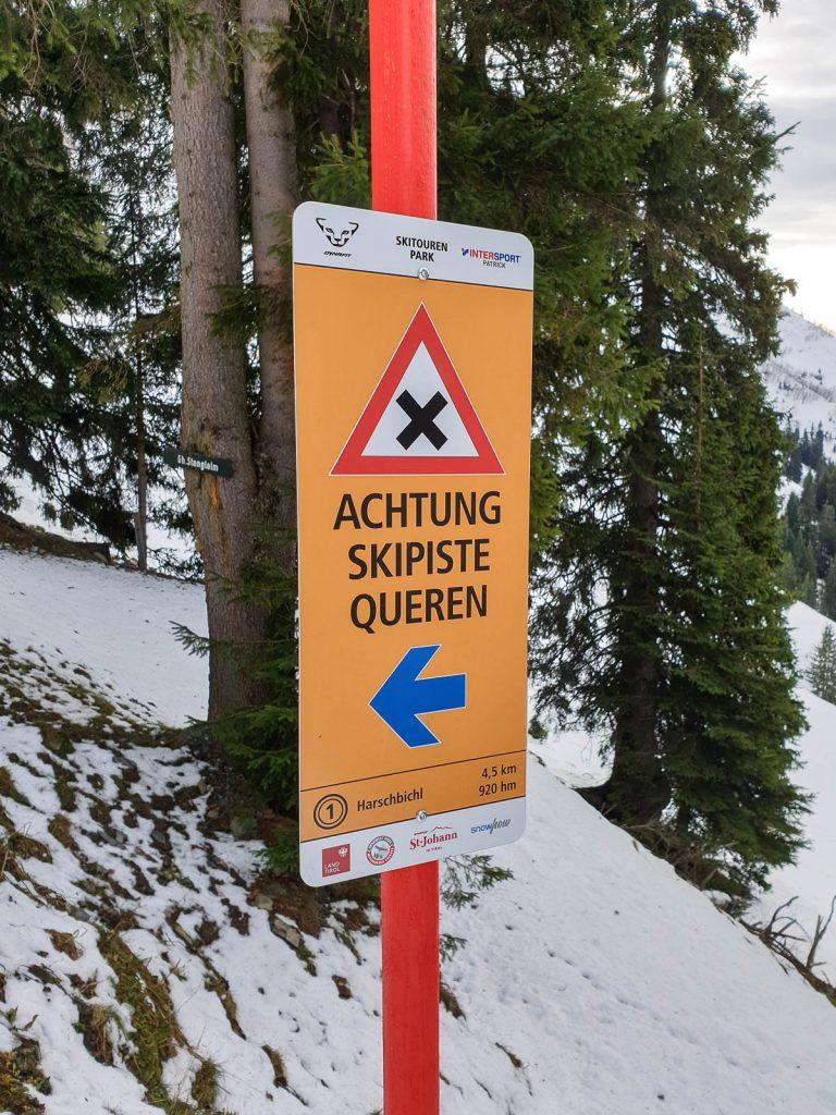 Konzept Pistentouren und -beschilderung Skitourenpark St. Johann I xHow