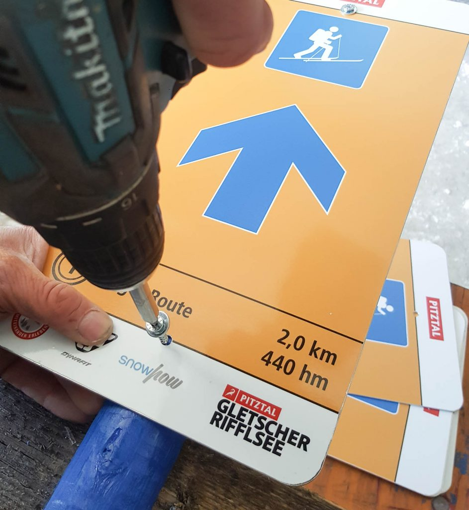 Konzept Pistentouren und -beschilderung Pitztaler Gletscher I xHow
