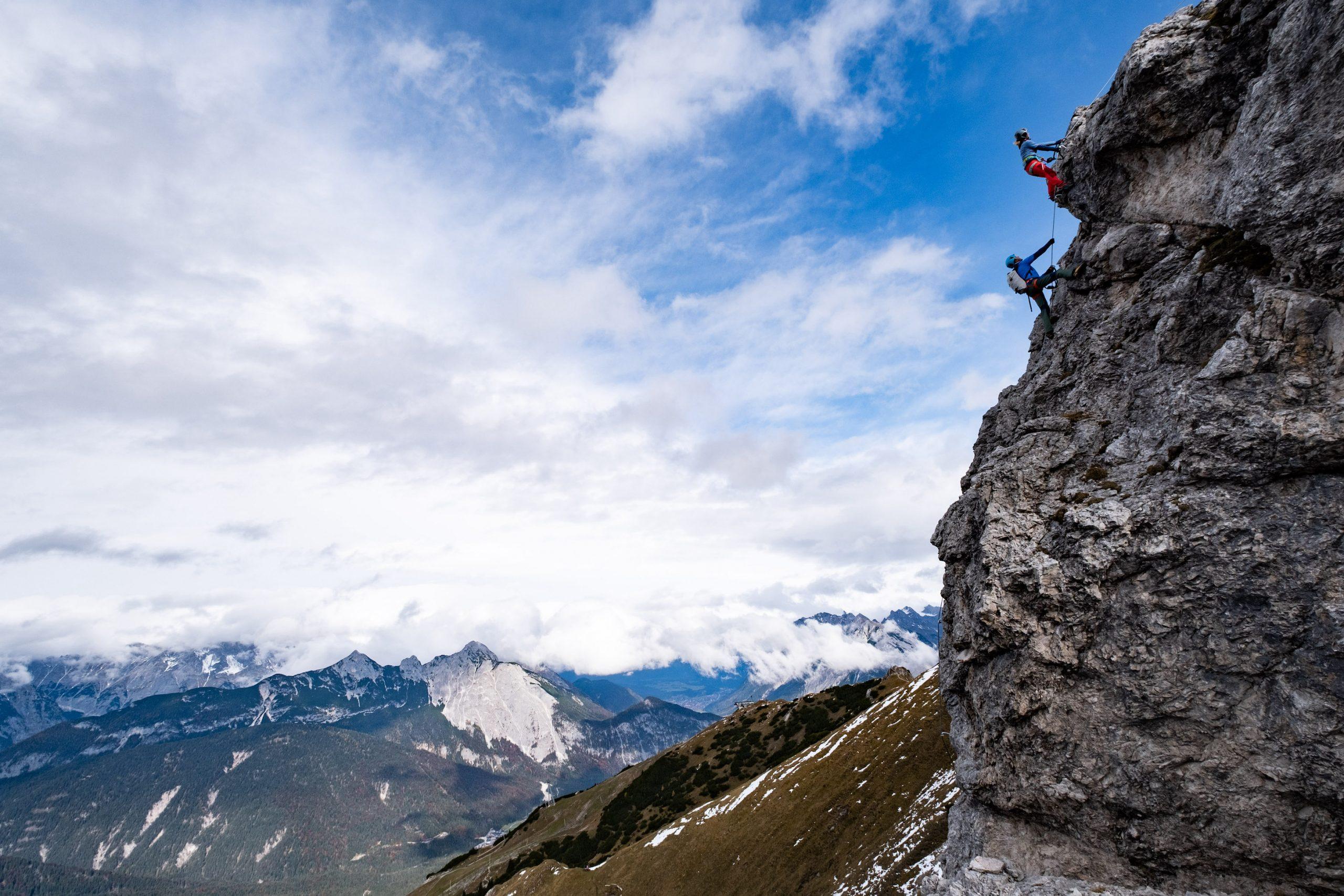 Aussicht am Seefelder Panorama-Klettersteig | Olympiaregion Seefeld - Johannes Mair/Alpsolut Pictures